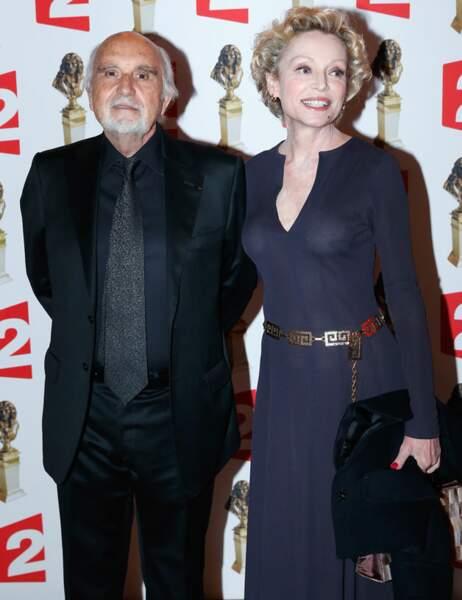 Jean-Louis Livi et Caroline Silhol dans une robe semi-transparente