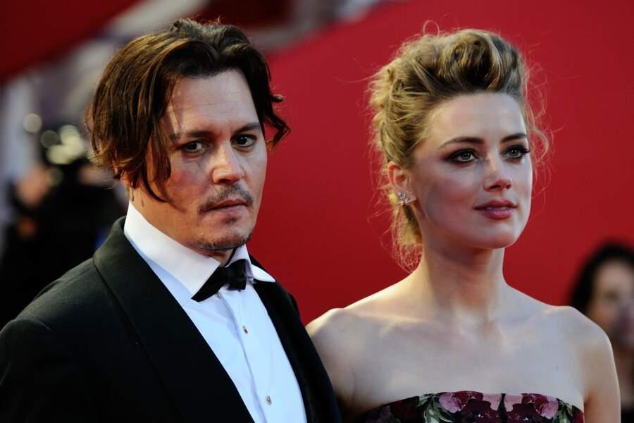 Johnny Depp et Amber Heard  à l'avant première de The Danish Girl