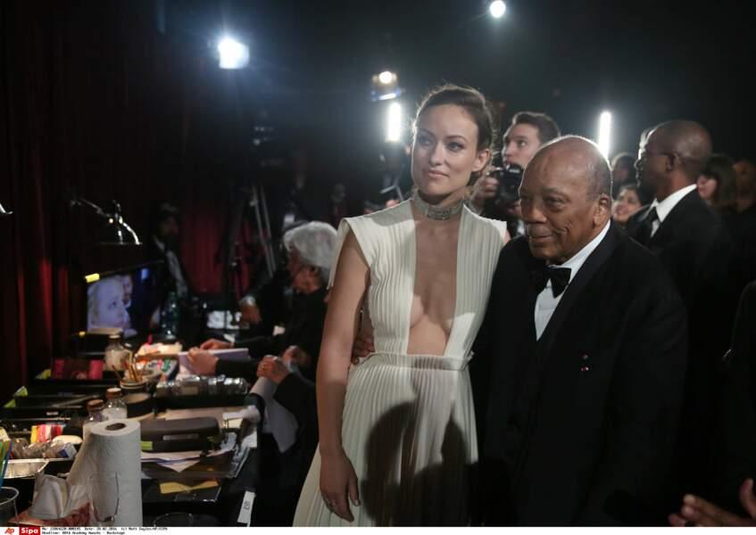 Quincy Jones avait une vue à 360° sur le décolleté d'Olivia Wilde