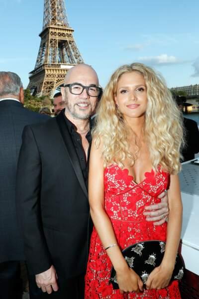 Pascal Obispo et sa femme Julie Hantson à l'anniversaire de Line Renaud