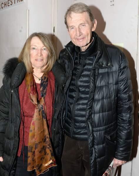 Etienne Mougeotte, ancien vice-président de TF1, et son épouse