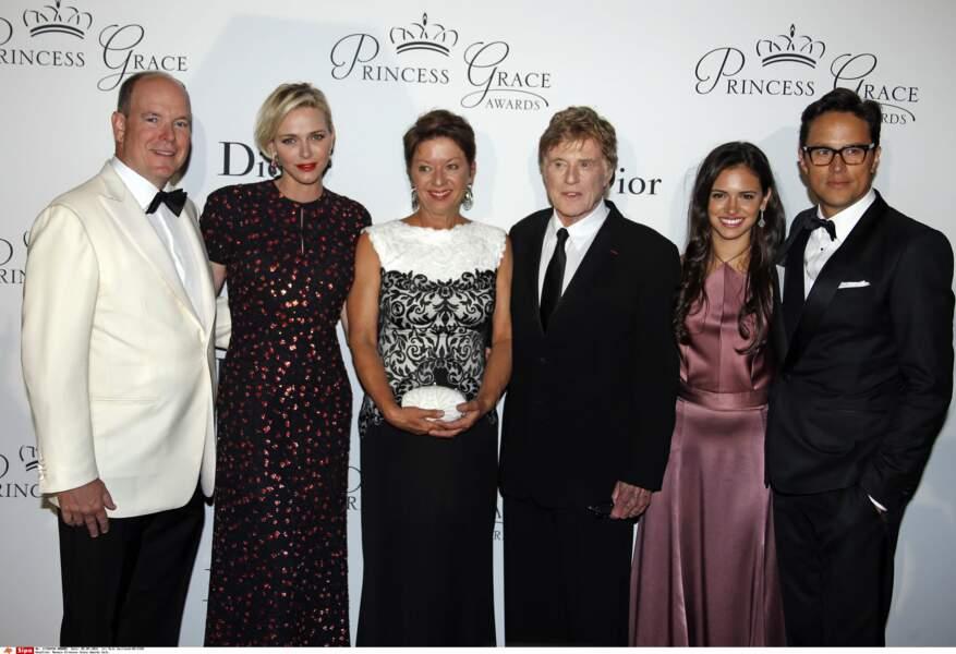 Albert et Charlène de Monaco, Robert Redford et sa femme
