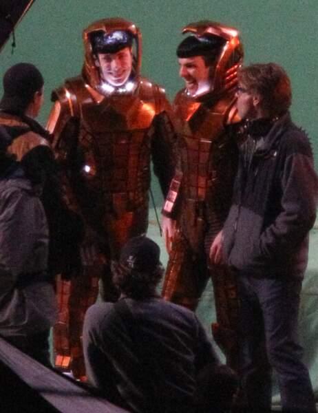 Zachary Quinto et sa doublure dans Star Trek into darkness