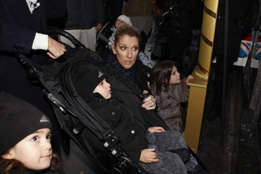 Céline Dion, avec Eddy et Nelson, toujours à Paris, mais en 2013