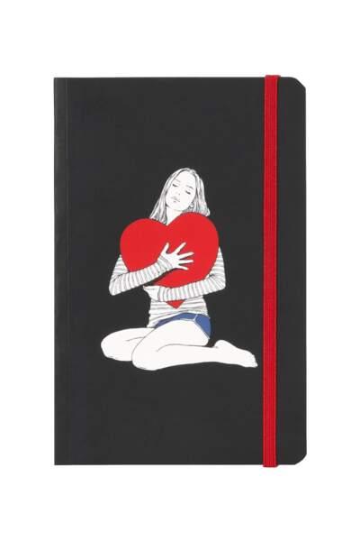Carnet. 15€, illustré par Delphine Cauly, capsule L'Amour, Swildens.