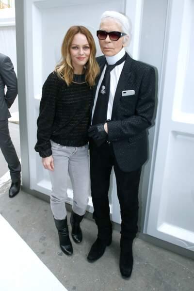 Vanessa Paradis aux côtés de Karl Lagerfeld