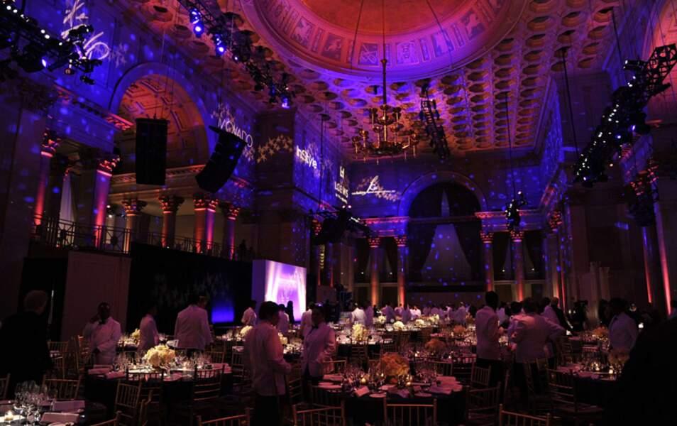 La salle du Cipriani Wall Street où s'est tenue la réception