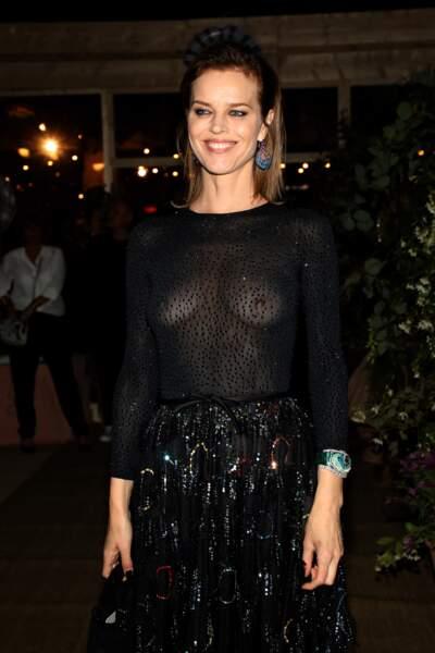 Eva Herzigová au dîner Dior et Vogue lors du Festival de Cannes