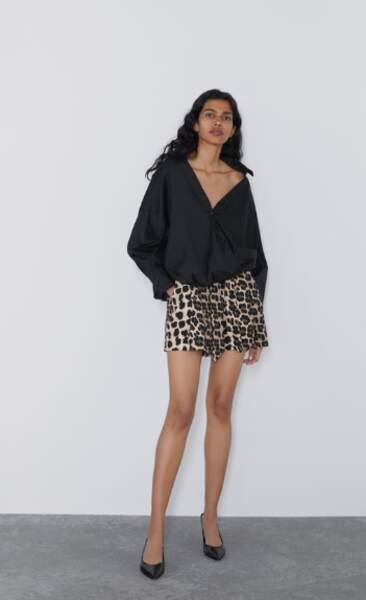 Bermuda imprimé léopard, Zara, 29,95€
