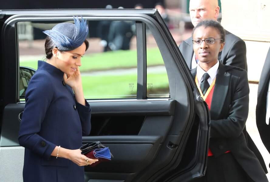 Meghan Markle et le prince Harry assistent au mariage d'Eugenie d'York à Windsor