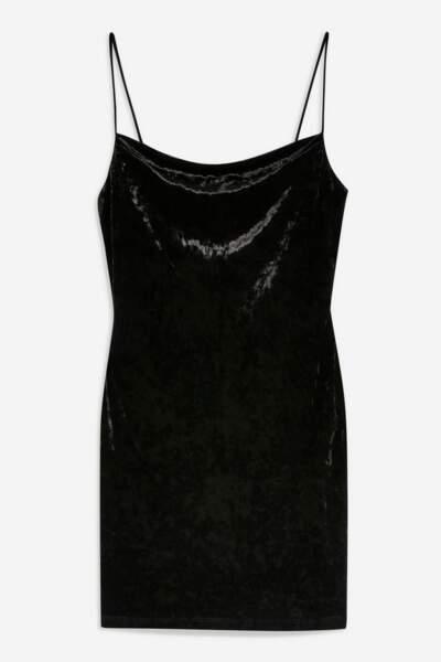 Petite robe en velours avec col bénitier, Topshop, actuellement à 20€.jpg