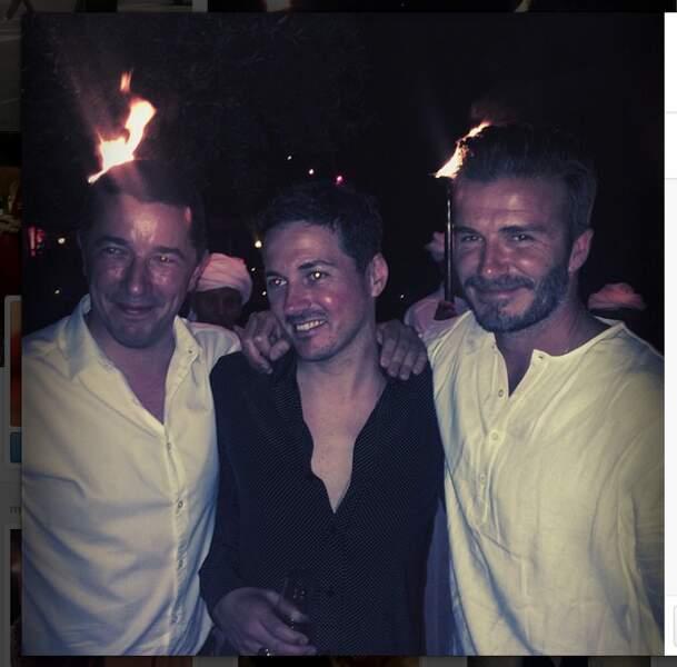 David Beckham et son meilleur ami Dave Gardner, compagnon de Liv Tyler