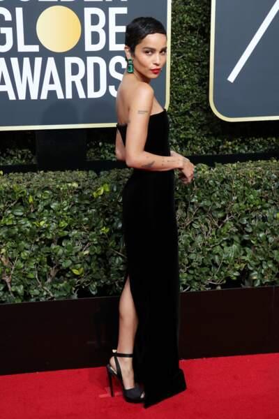 Zoe Kravitz lors de la 75e cérémonie des Golden Globes, le 7 janvier 2018