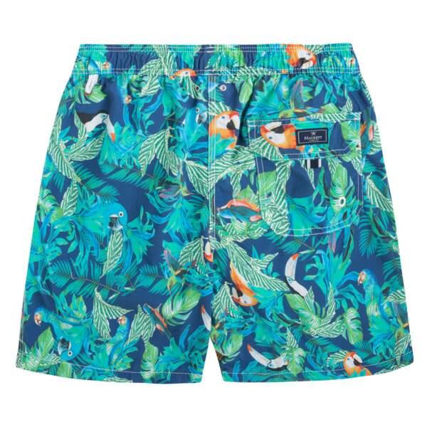 Short de bain imprimé perroquets, Hackett, 120€