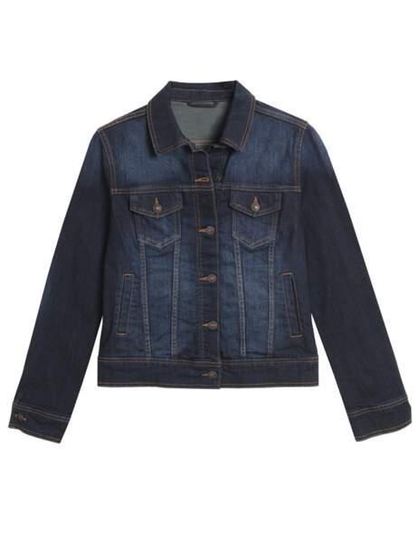 Blouson en jean 49,95€ (Etam)