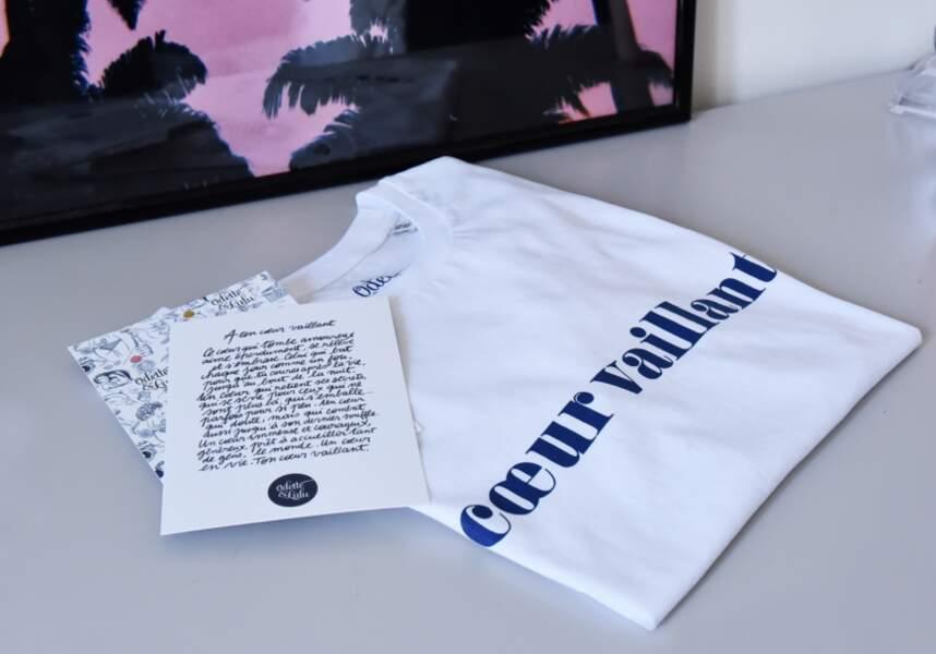 Cadeaux de fête des mères : t-shirt en coton Coeur Vaillant, Odette et Lulu, 29€
