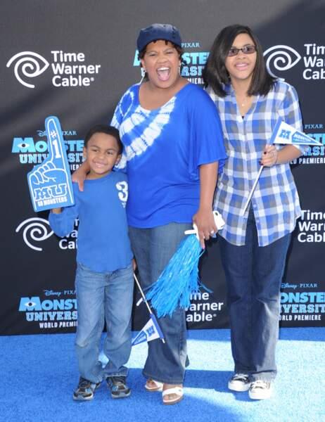 Chandra Wilson avec son fils Michael et sa fille Joy