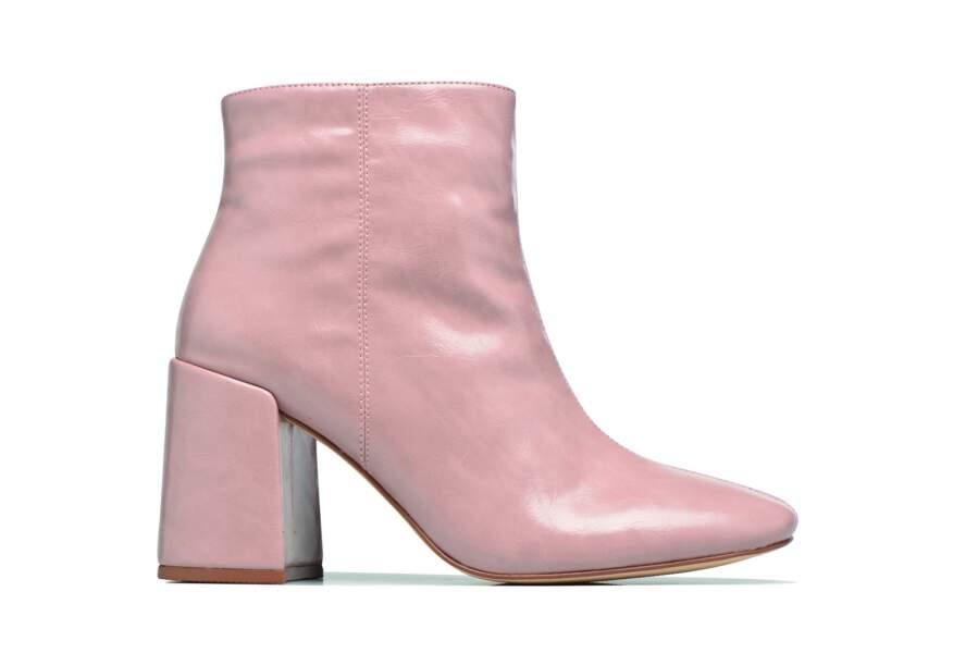 Bottines vernies roses, I love Shoes, 49€ sur sarenza.com