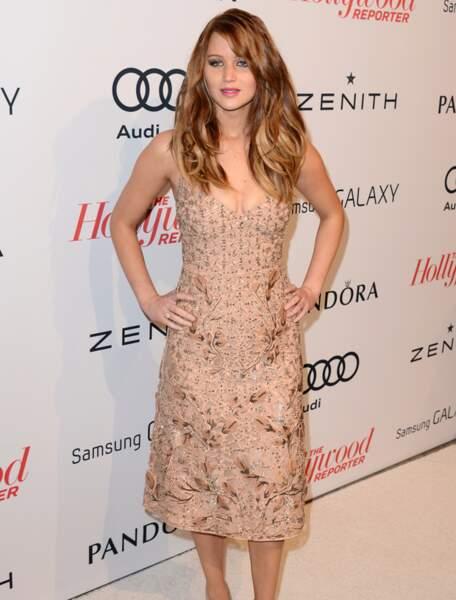 Jennifer Lawrence à la soirée The Hollywood Reporter