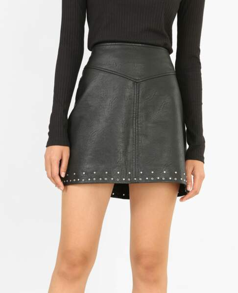 Pimkie : 35 articles soldés sur lesquels on craque : Mini jupe en simili cuir, 15 euros au lieu de 25,99 euros