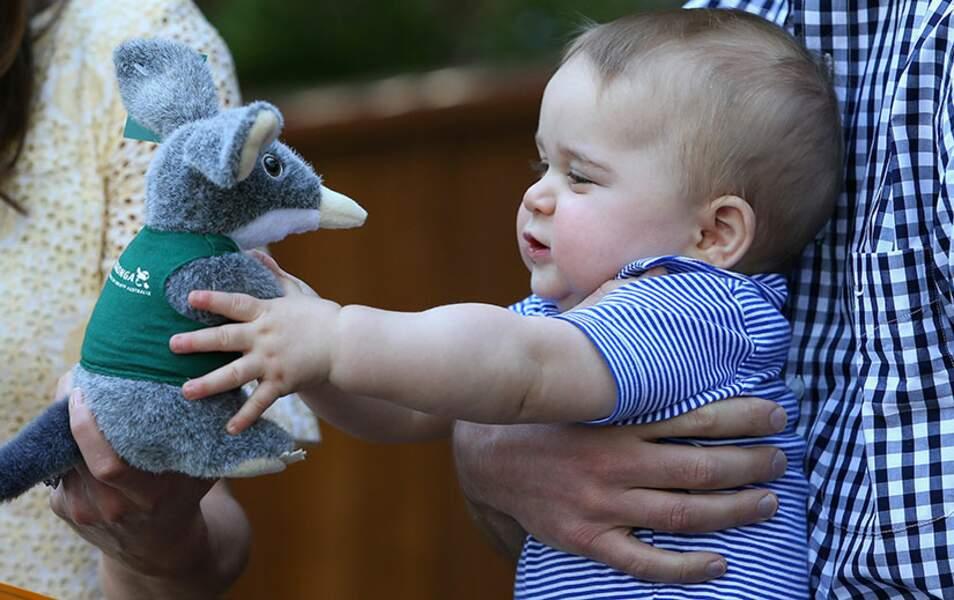 George repart avec un souvenir tout doux du zoo
