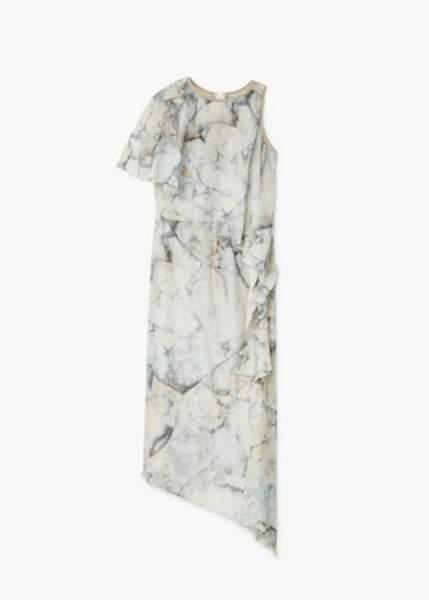 Robe asymétrique volantée, Mango, 71,99€ au lieu de 119€