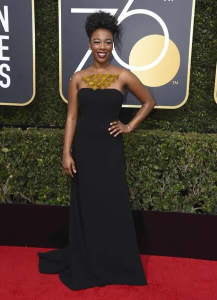 Samira Wiley lors de la 75e cérémonie des Golden Globes, le 7 janvier 2018