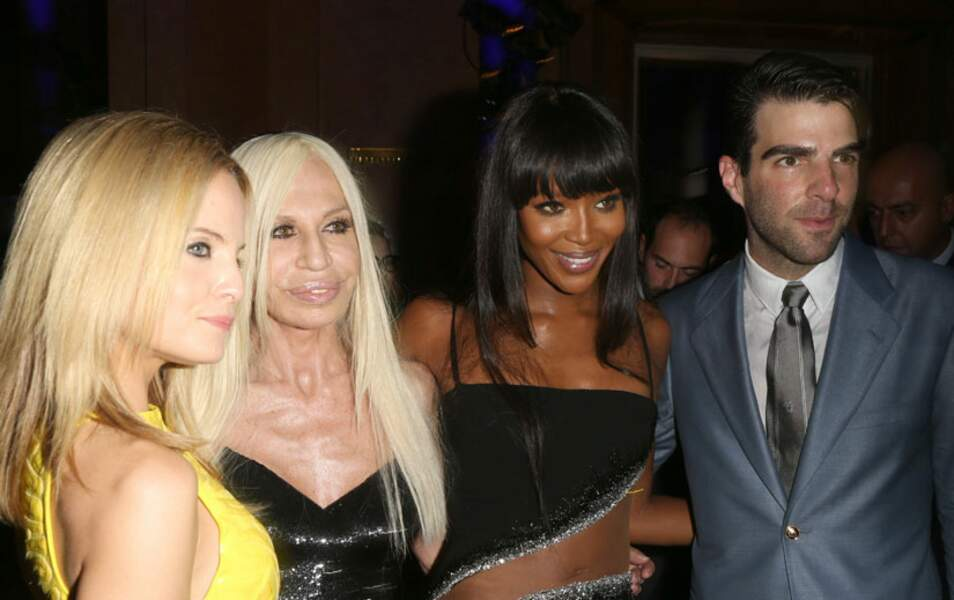 Mena Suvari, Donatella Versace, Naomi Campbell et Zachary Quinto