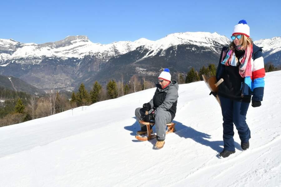 Zinedine Soualem et Caroline Faindt au 35ème festival Mont-Blanc Humour