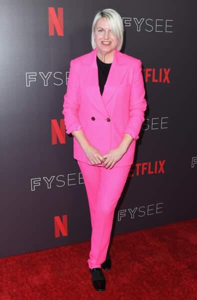 Les don'ts de la semaine : le costume pantalon rose - Jennifer Starzyk