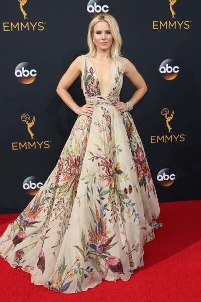 Emmy Awards 2016 :  Kristen Bell dans mes rideaux de campagne