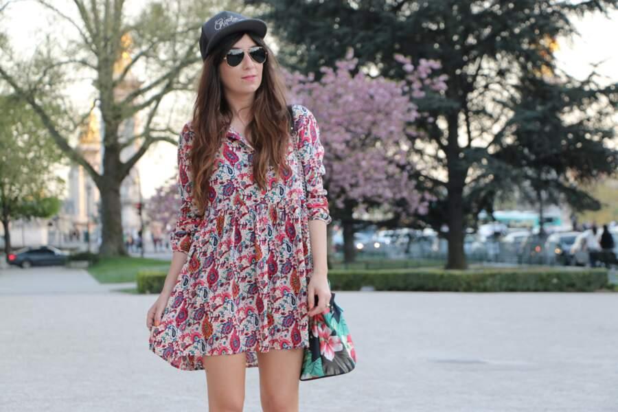 Marieluvpink en robe tunique Bymonshowroom