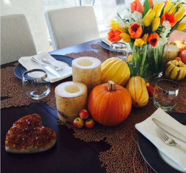 La très jolie table de Gigi Hadid