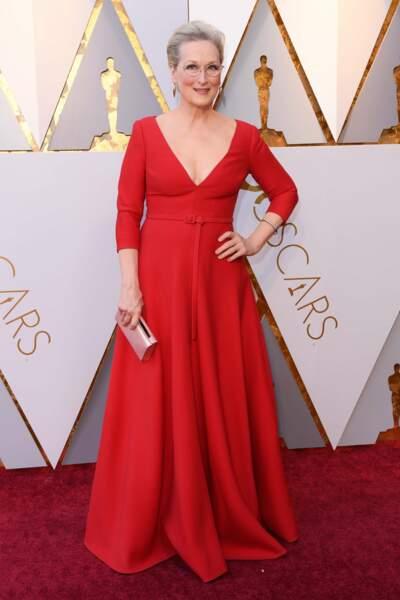Meryl Streep à la 90e cérémonie des Oscars, à Los Angeles le 4 mars 2018