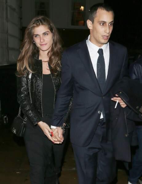 Elisa Sednaoui et son compagnon Alex Dellal