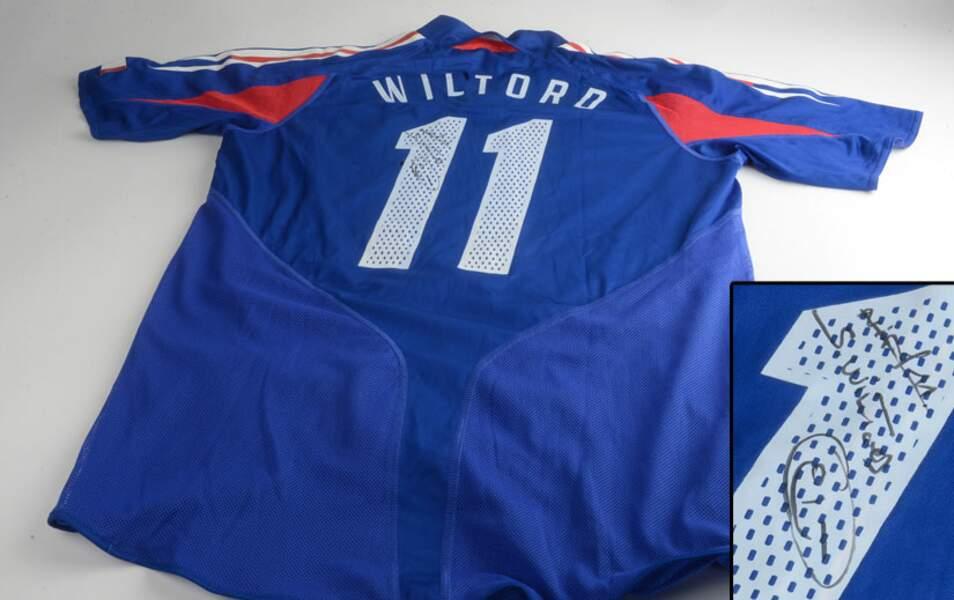 Le maillot de l'équipe de France de Sylvain Wiltord