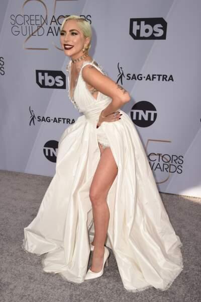 Lady Gaga aux SAG Awards 2019, le 27 janvier, à Los Angeles