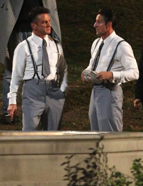 Sean Penn et sa doublure dans The Gangster Squad