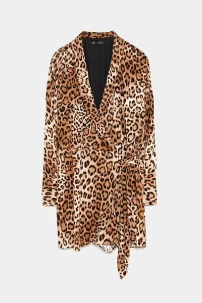 Robe combinaison imprimée, Zara, 39,95€