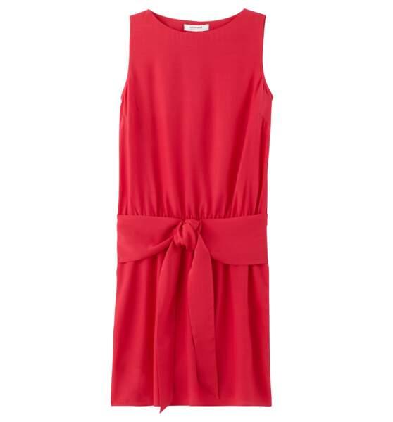 Robe rouge avec ceinture, Promod, actuellement en promo à 17,97€