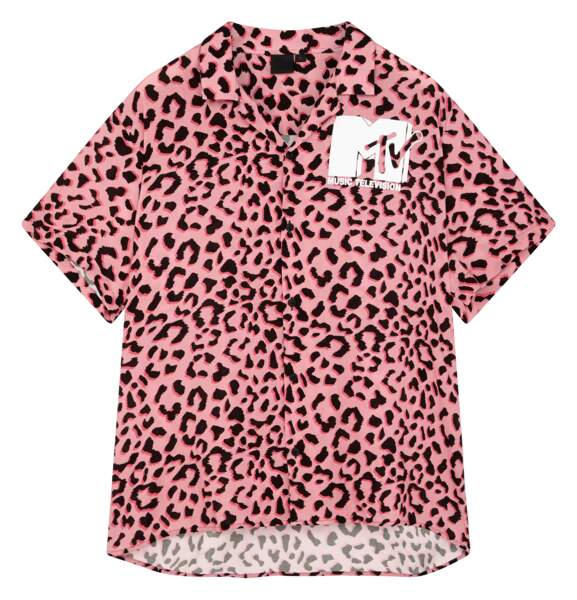 ASOS x MTV : chemise oversize imprimé léopard, 47,99€