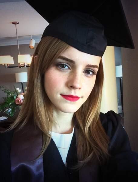 Ce dimanche, Emma Watson a obtenu son diplôme