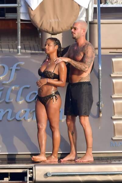 M. Pokora et Christina Milian passent du bon temps sur un yacht
