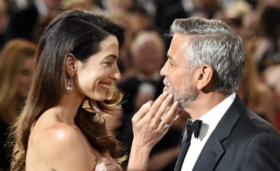 Amal et George Clooney, très amoureux