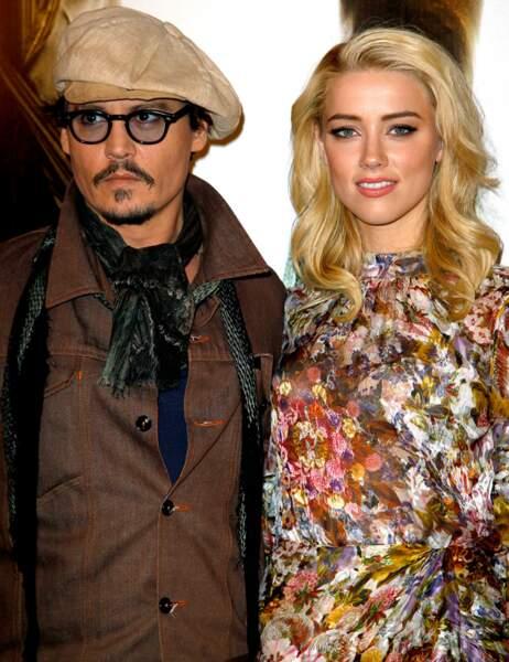 Johnny Depp et Amber Heard en novembre 2011
