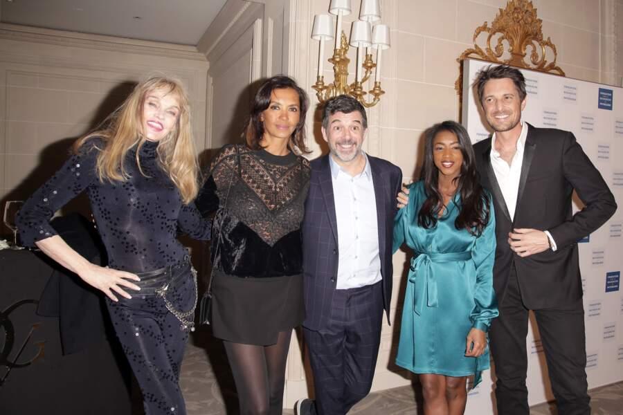 Arielle Dombasle, Karine Le Marchand, Stephane Plaza, Hapsatou Sy et Vincent Cerutti aux Stéthos d'Or