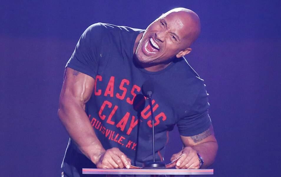 Dwayne Johnson, alias The Rock, était au taquet