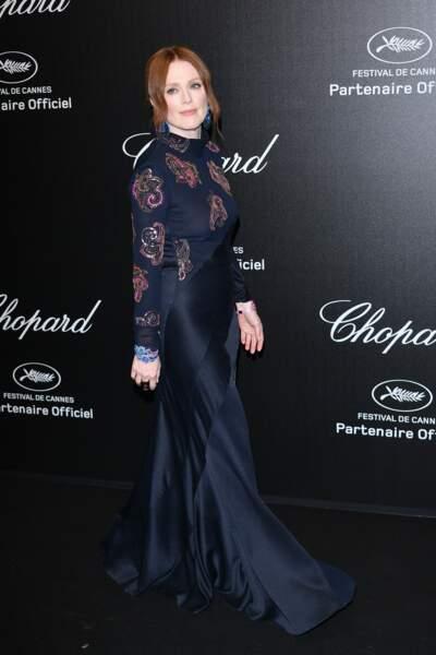 Julianne Moore lors de la soirée Chopard organisée au festival de Cannes le 17 mai 2019