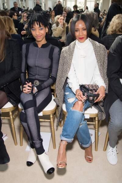 Jada Pinkett et sa fille Willow Smith : le duo de modeuses qui court les défilés