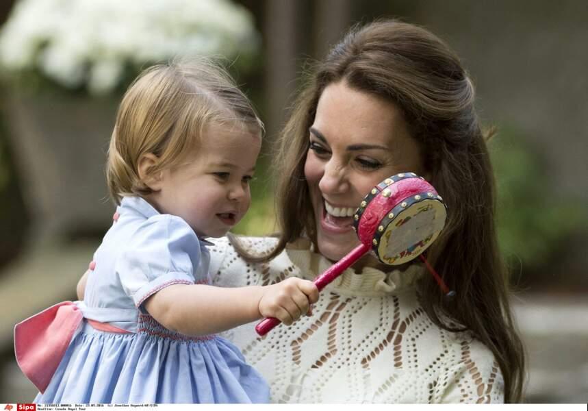 Charlotte de Cambridge fait le bonheur de sa mère